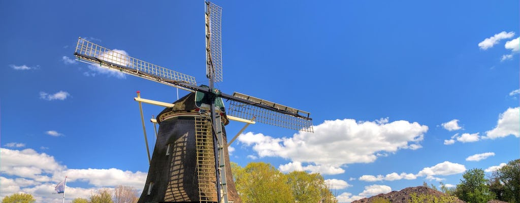 Countryside bike tour with windmill, cheese and clogs