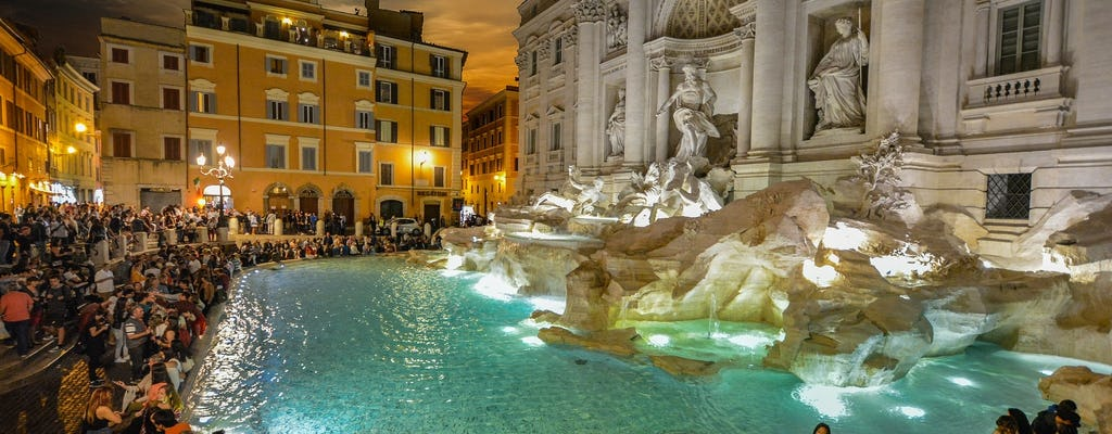 Illuminated Rome Night Tour with Wine and Appetizers