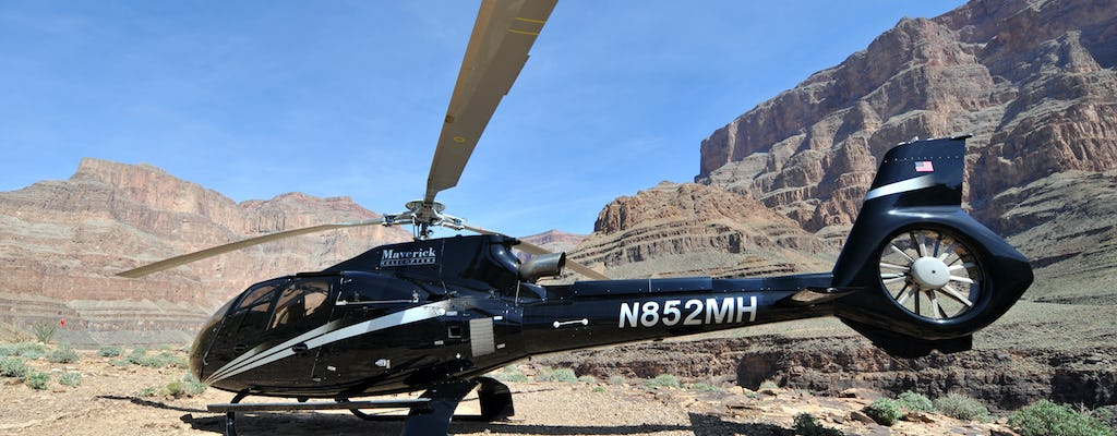 Free Spirit Grand Canyon landing helicopter flight + champagne toast from South Las Vegas