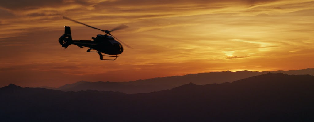 Grand Canyon Sunset tour by helicopter with Champagne toast and stretch limousine hotel transfer