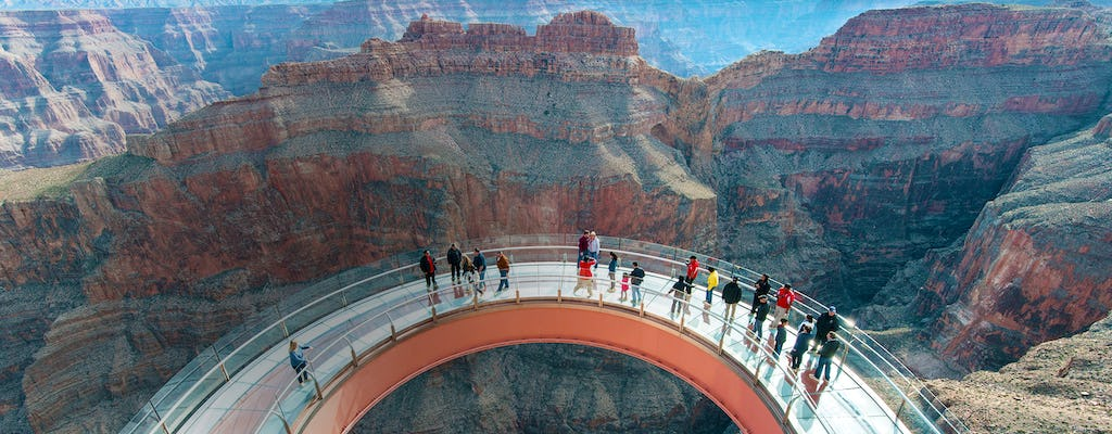 Grand Canyon Helicopter tour and Skywalk express with limousine pickup and drop-off