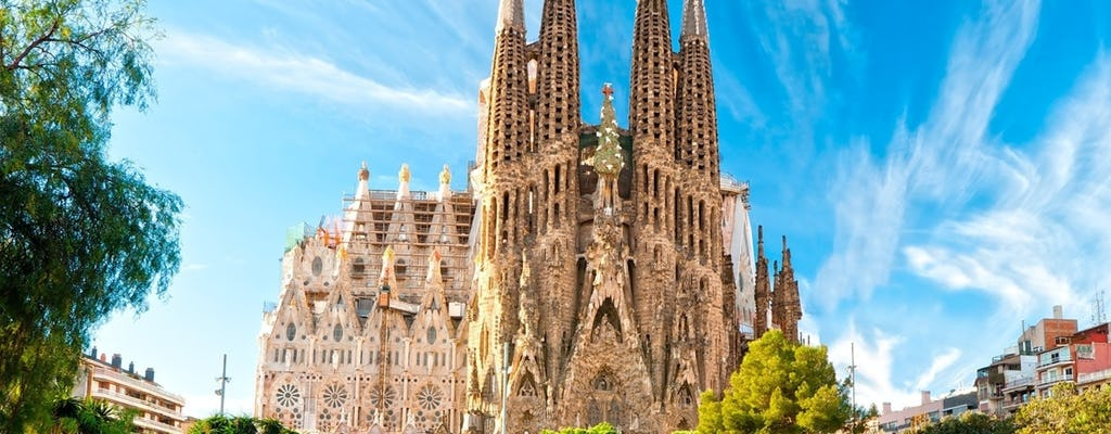 Gaudí tour on a luxury open top minibus with access to the Sagrada Familia and Park Güell