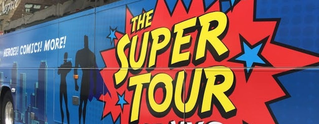 Superhero bus tour of NYC