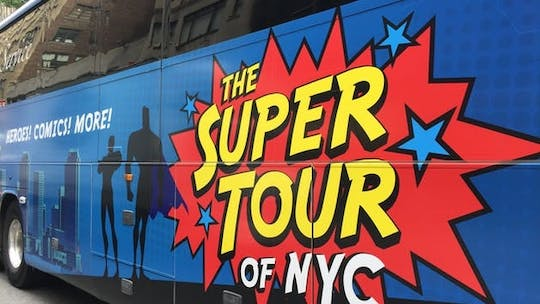 Visite en bus des super-héros à New York