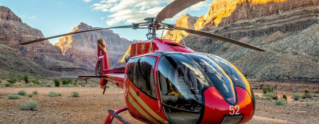 Wycieczka helikopterem do Wielkiego Kanionu z przejażdżką łodzią i dostępem na Skywalk