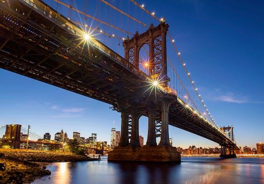 New York City evening lights sail on America 2.0