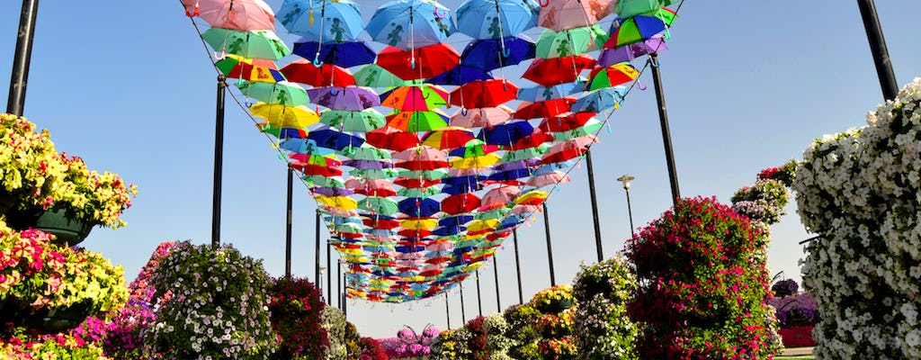 Tour dello shopping al Dubai Miracle Garden e al Global Village
