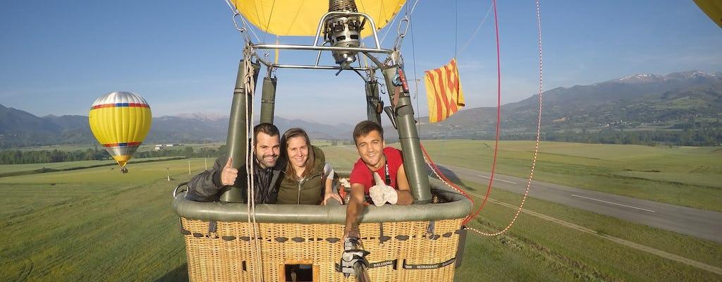 Hot air balloon in Barcelona