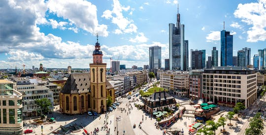 Highlights of Frankfurt guided bike tour