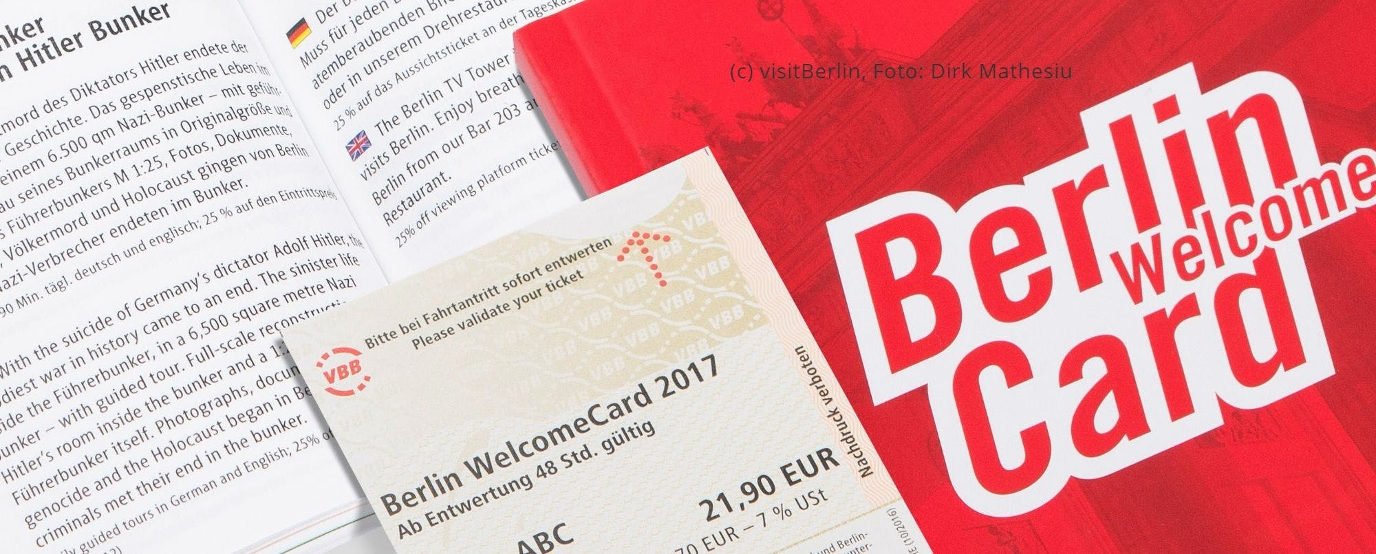 Berlin WelcomeCard with entrance to the Museum Island