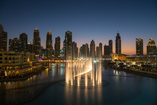 Dubai Fountain Boardwalk with Burj Khalifa tickets