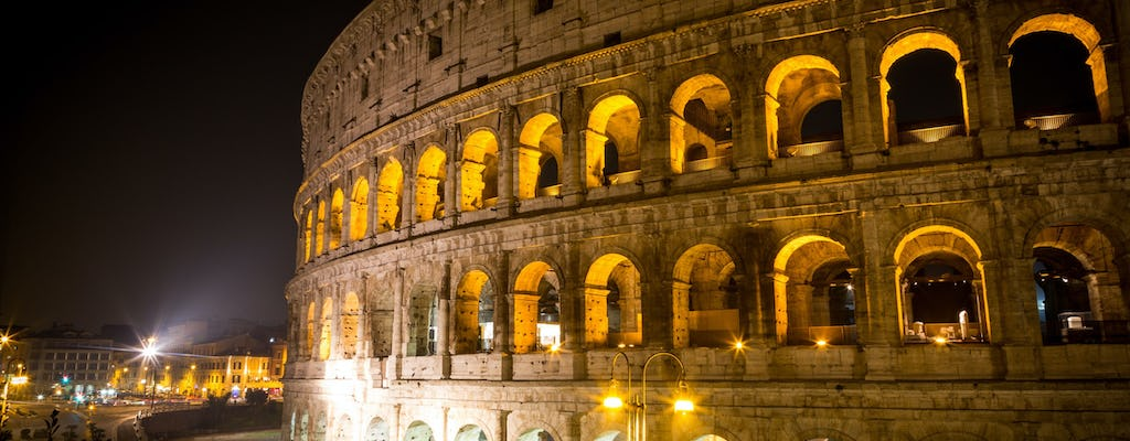 Colosseum and Roman Forum with skip-the-line tickets and night tour