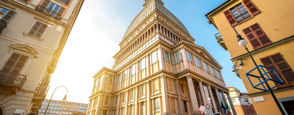 Museo Nacional de Cine y Mole Antonelliana con billetes de bus turístico de Turín de 24 o 48 horas