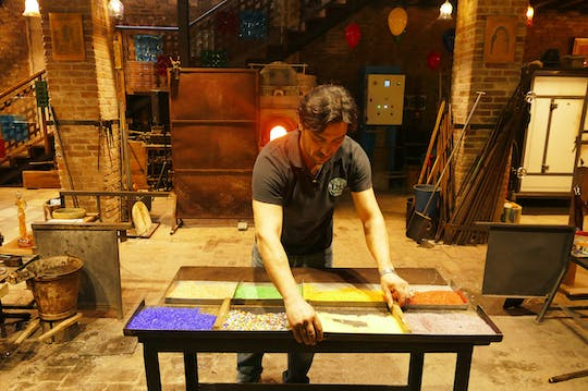 Murano Glass Working Demonstration at The Glass Cathedral