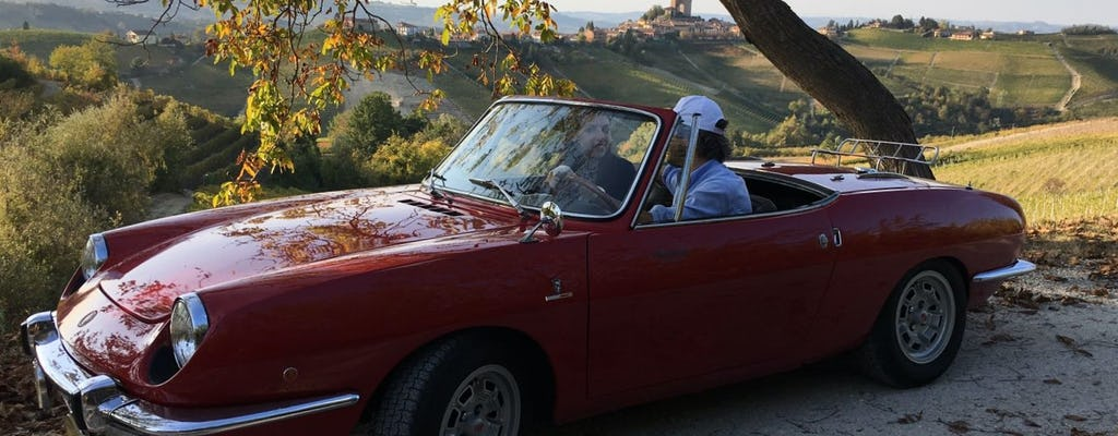 Vintage cabriolet experience to discover Piedmont