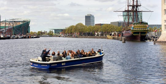 Amsterdam open boat canal cruise