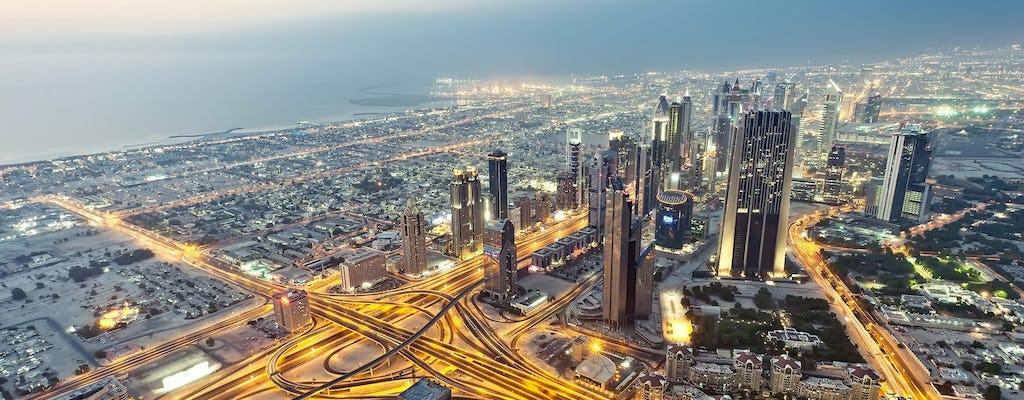 Tour della città di Dubai con cena in dhow