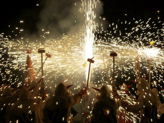 Traditional correfoc tour from Barcelona