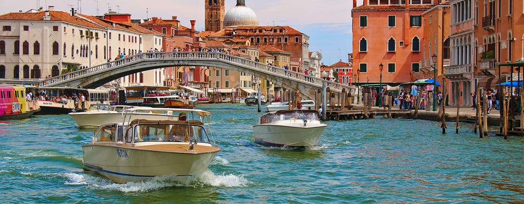 Guided Grand Canal motor boat tour