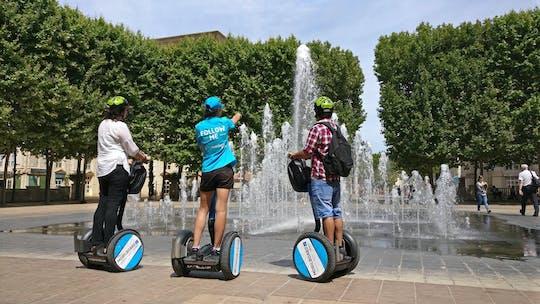 Rondleidingen op een personal transporter in de oude en nieuwe stad Montpellier