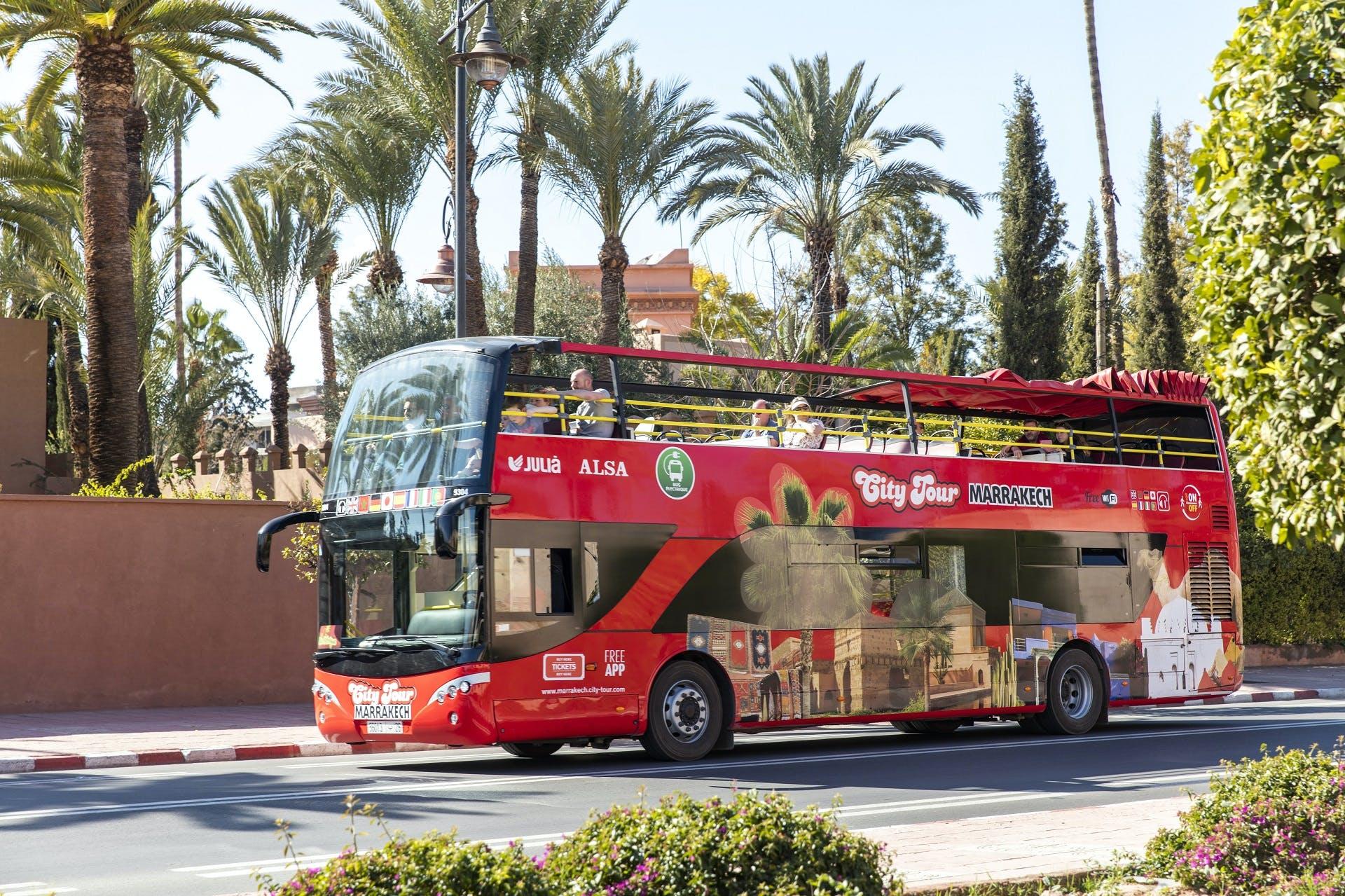 Marrakech city tour hop-on hop-off 2 day tickets