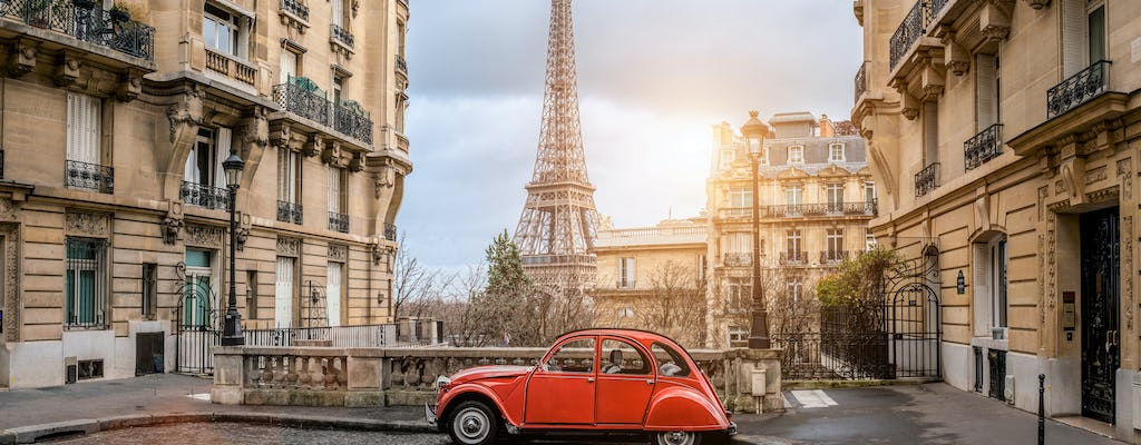 Tour privato di Parigi a bordo di un'auto d'epoca