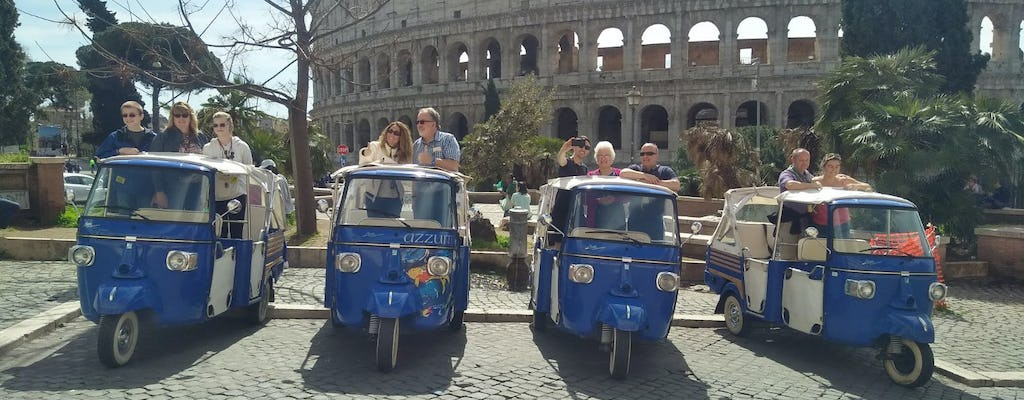 Imperial Rome tour by ape calessino and skip-the-line at the Colosseum