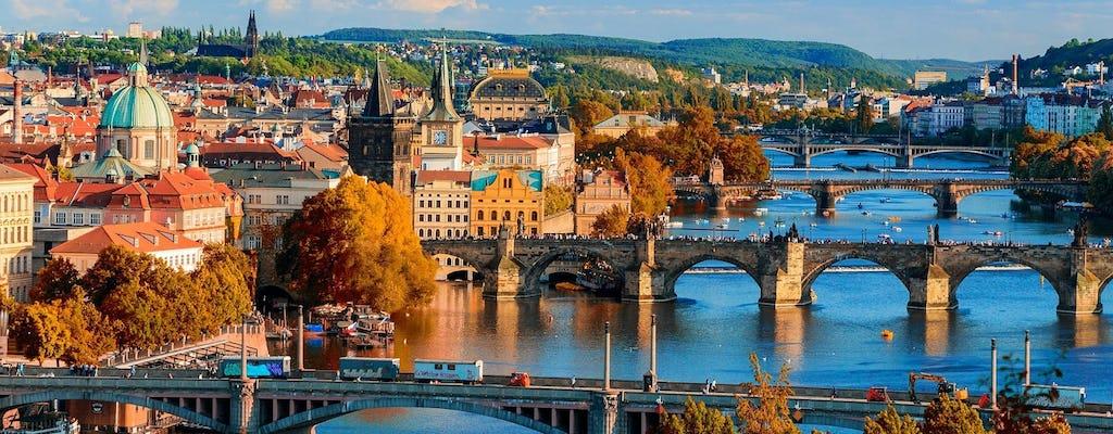 Tour di un giorno di Praga e crociera sul fiume con pranzo