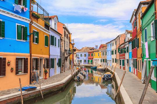 Excursión en barco de medio día a Murano y Burano desde el centro de Venecia