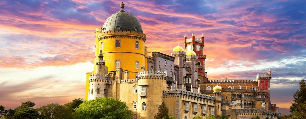 Sintra and Atlantic road tour with Pena Palace and Quinta da Regaleira from Lisbon