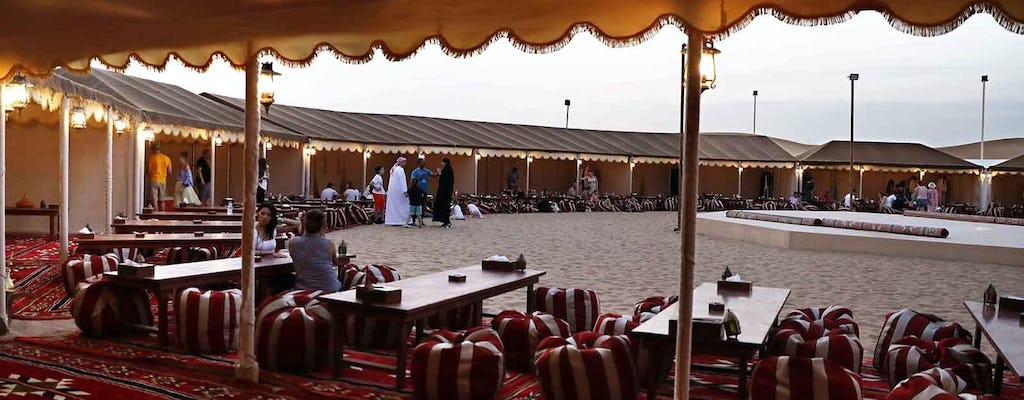 Red dunes desert safari with BBQ dinner and Tanoura dance show at Al Khayma Camp