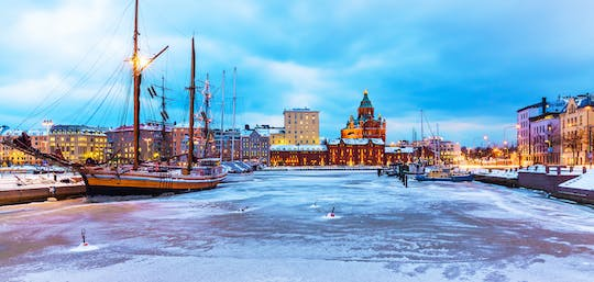 Helsinki sightseeing and Lapland Winter world shore excursion