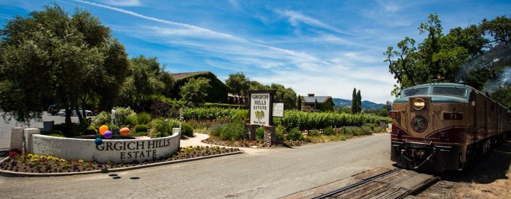 Napa Valley Wine Train and Grgich Hills winery tour with gourmet lunch