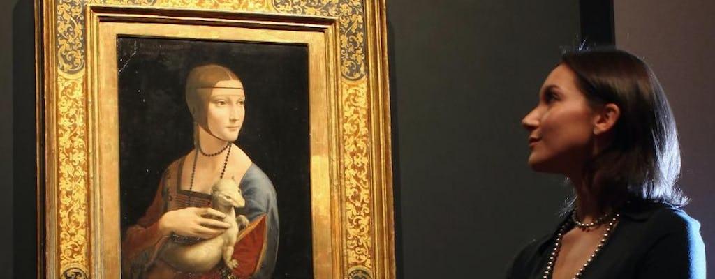 """Leonardo da Vinci """"Dame avec une hermine"""" billet d'entrée"""