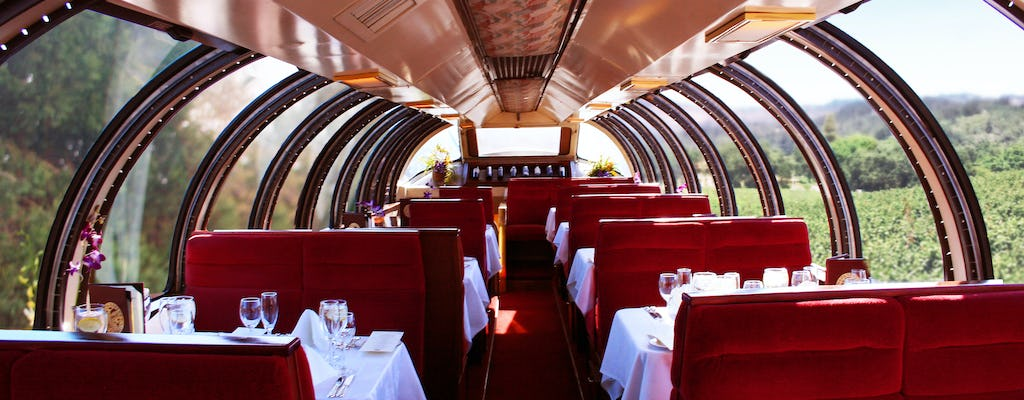 Napa Valley Wine Train Vista Dome cena experiencia