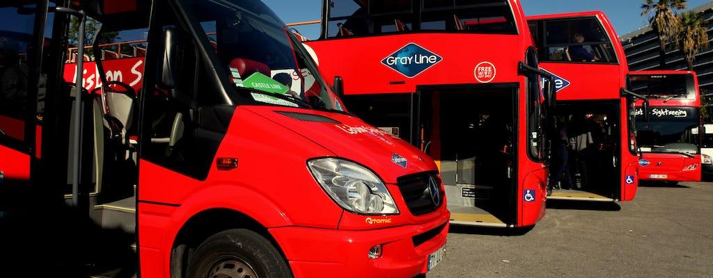 Visita guiada de Lisboa Hop-On Hop-Off 3 líneas durante 2 días