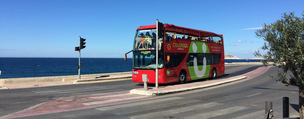 Pase de autobús turístico Colorbus Marsella con paradas libres