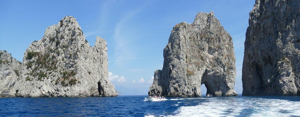 Esperienza di barca privata a Capri da Positano