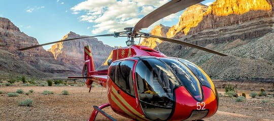 King of Canyons West Rim Helicopter Tour with optional sunset upgrade