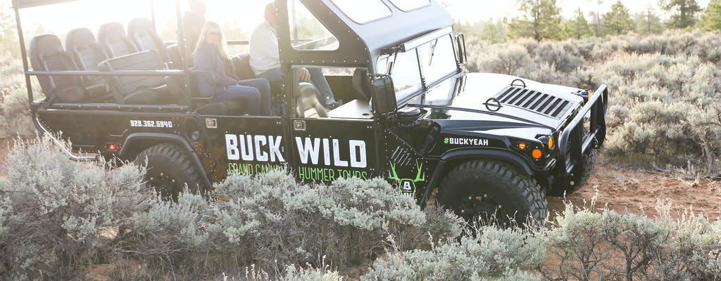Helicóptero Majestic South Rim com upgrade do tour guiado por Buck Wild Hummer