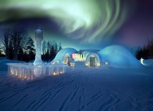 Арктический снежный замок с ужином в ледяном ресторане