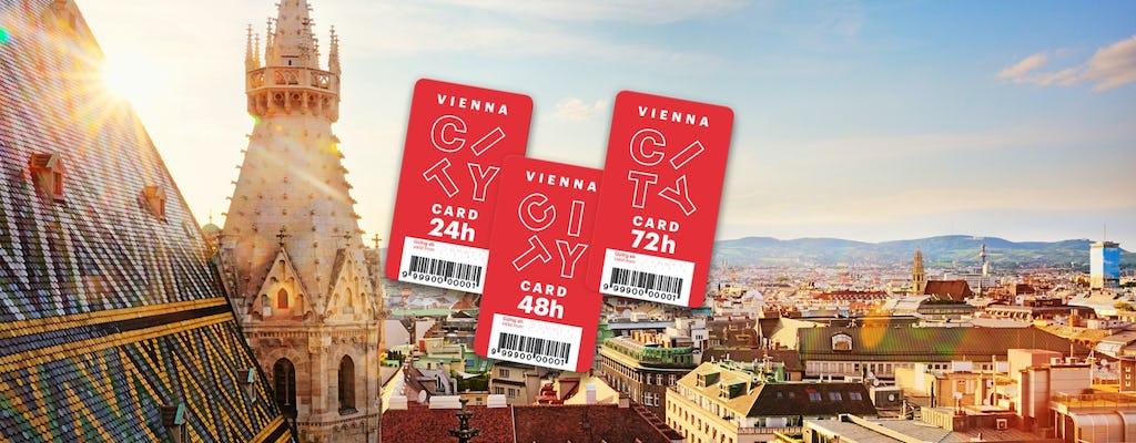 Vienna Card avec transports en commun pendant 24, 48 ou 72 heures