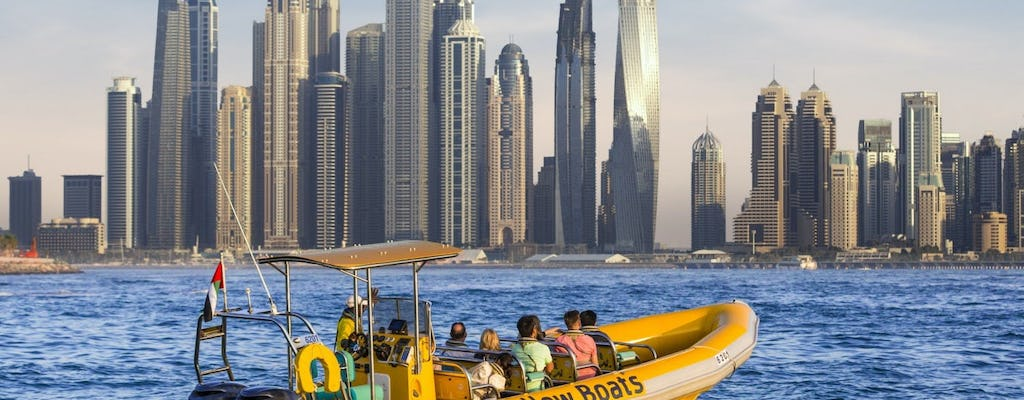 99-minute premium boat tour of Dubai Marina, Palm Jumeirah, Atlantis and Burj Al Arab