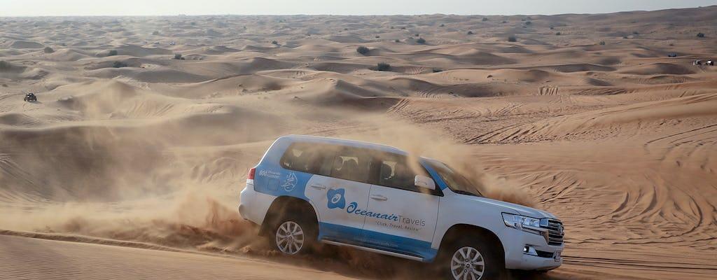 Абу-Даби, сафари в пустыне с барбекю, катание на верблюдах и сэндбординг