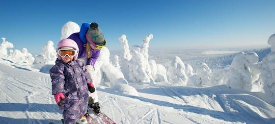 Целый день приключений на лыжах в Леви
