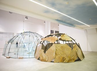 "Guided visit to Mario Merz's ""Igloos"" show"