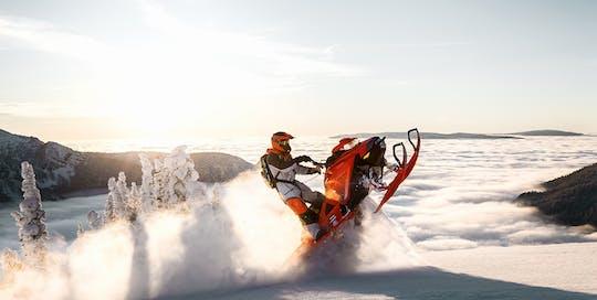 Snowmobile safari in Lapland