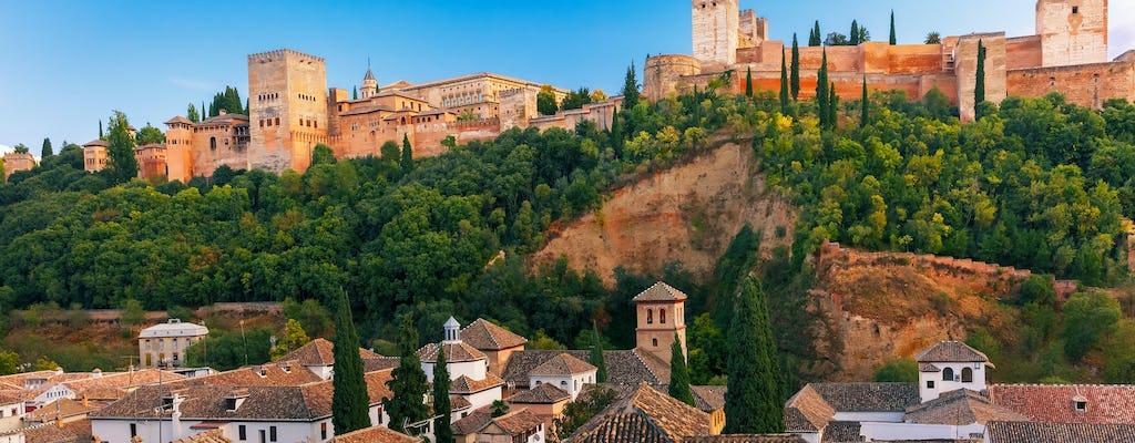 Bilety Alhambra i wycieczka z przewodnikiem z Malagi