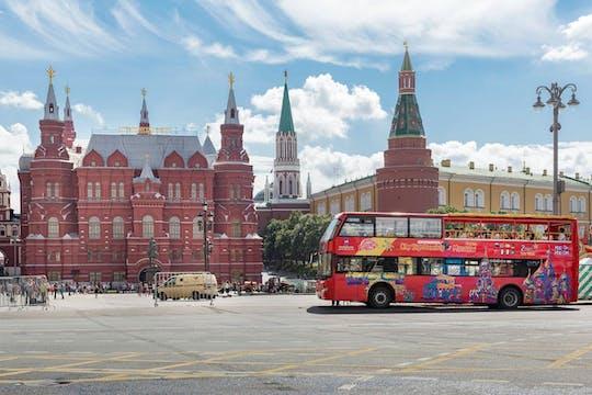 Recorrido en autobús con paradas libres por Moscú con opción de barco