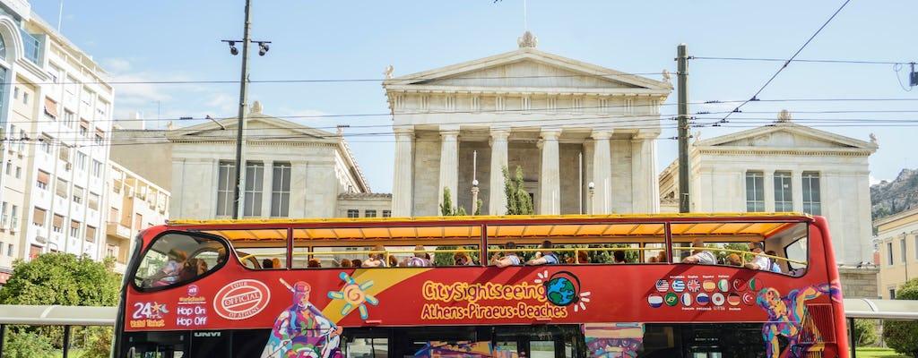 Pase de Atenas para subir y bajar con opciones de tour del Pireo y la playa-Riviera